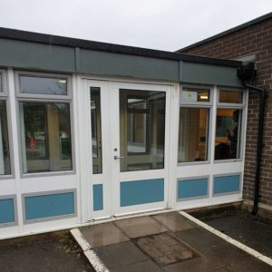 Oakfield Primary School entrance